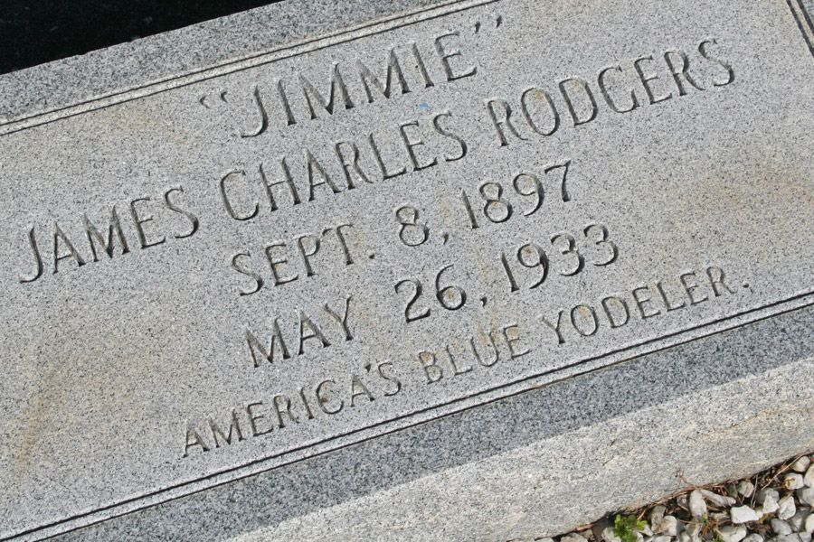 grave marker jimmie rodgers country singer he is buried. Black Bedroom Furniture Sets. Home Design Ideas