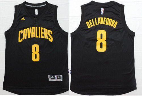 Men s Cleveland Cavaliers  8 Matthew Dellavedova Revolution 30 Swingman  Black With Gold Jersey  5d76d3d7f