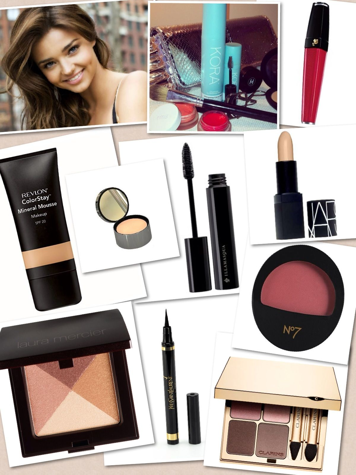 34ed5b7a29224e Inside Miranda Kerr's Makeup Bag - Yves Saint Laurent The Black Collection  Eyeliner Pen, Clarins