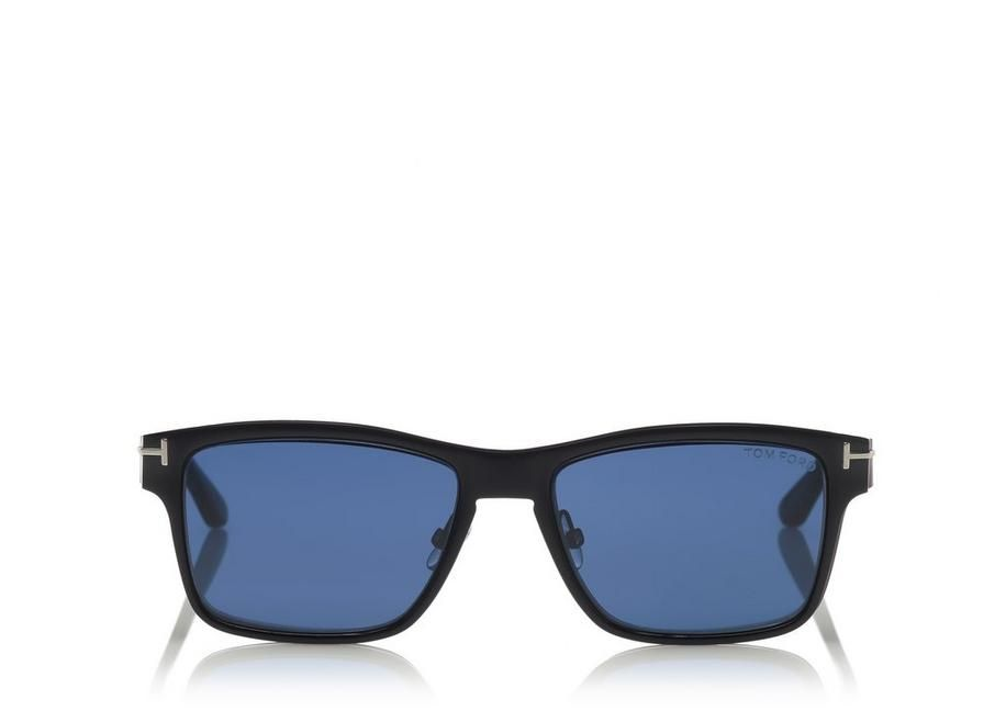 bf9b87b360aa TOM FORD SOFT SQUARE METAL OPTICAL FRAME WITH MAGNETIC CLIP. #tomford