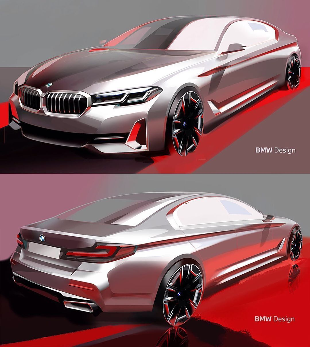 "Car Design World on Instagram: ""2021 BMW 5-Series official sketches by Robert Forest  #cardesign #car #design #carsketch #sketch #bmw #bmw5series #bmwclub #bmwfan"""