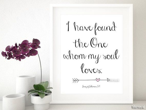 i found the one my soul loves verse