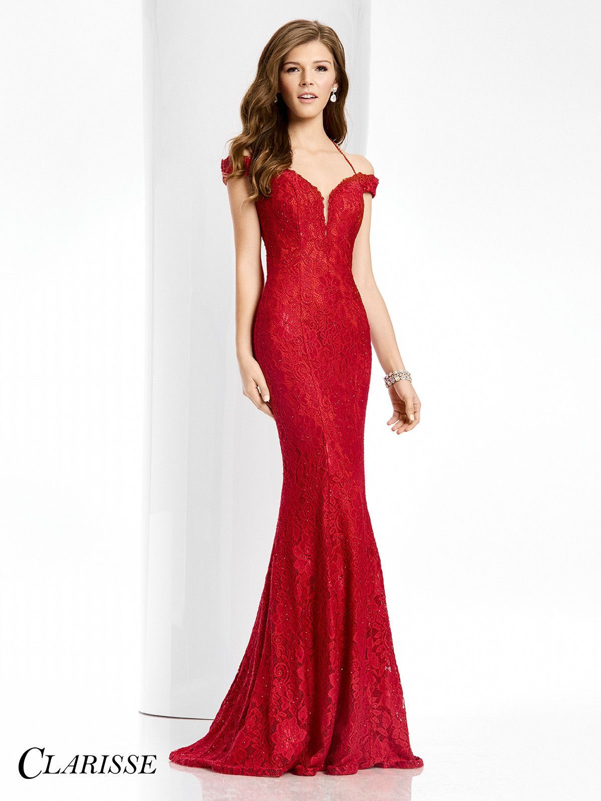 Clarisse Couture 4801 Vamp Red Prom Dress