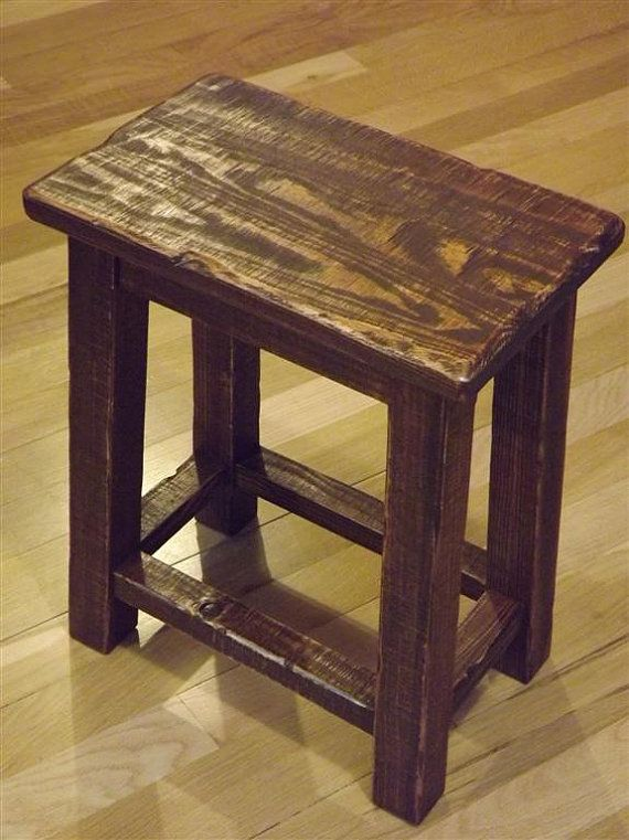 Rustic/ Reclaimed Wood/ Farmhouse/ Stool/ Sitting Stool/ Primitive/ Small/