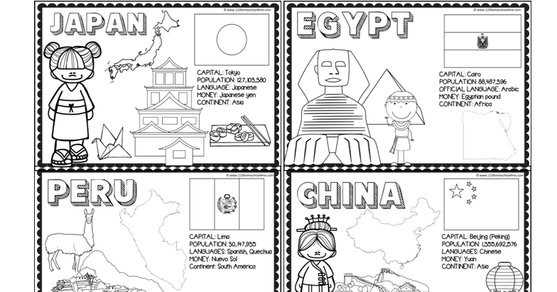 FREE 18 Countries of the World Book Toddlers Around