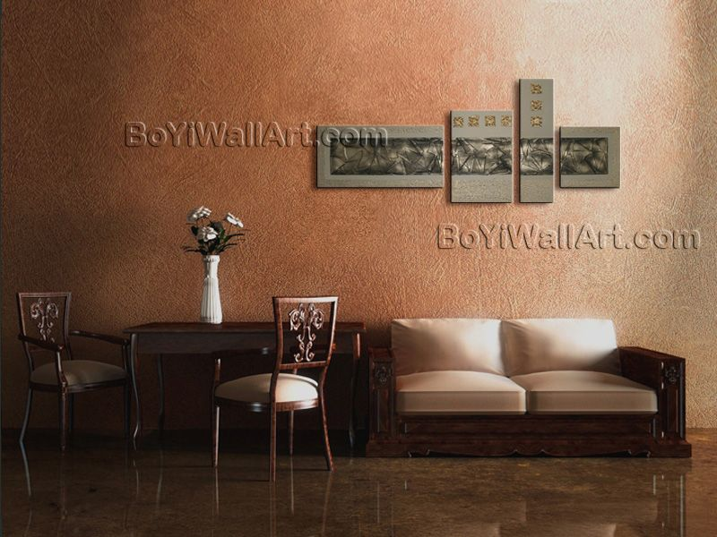 Elegant Designed Contemporary wall art Abstract oil painting on canvas. Great details! The use of rich colors and light