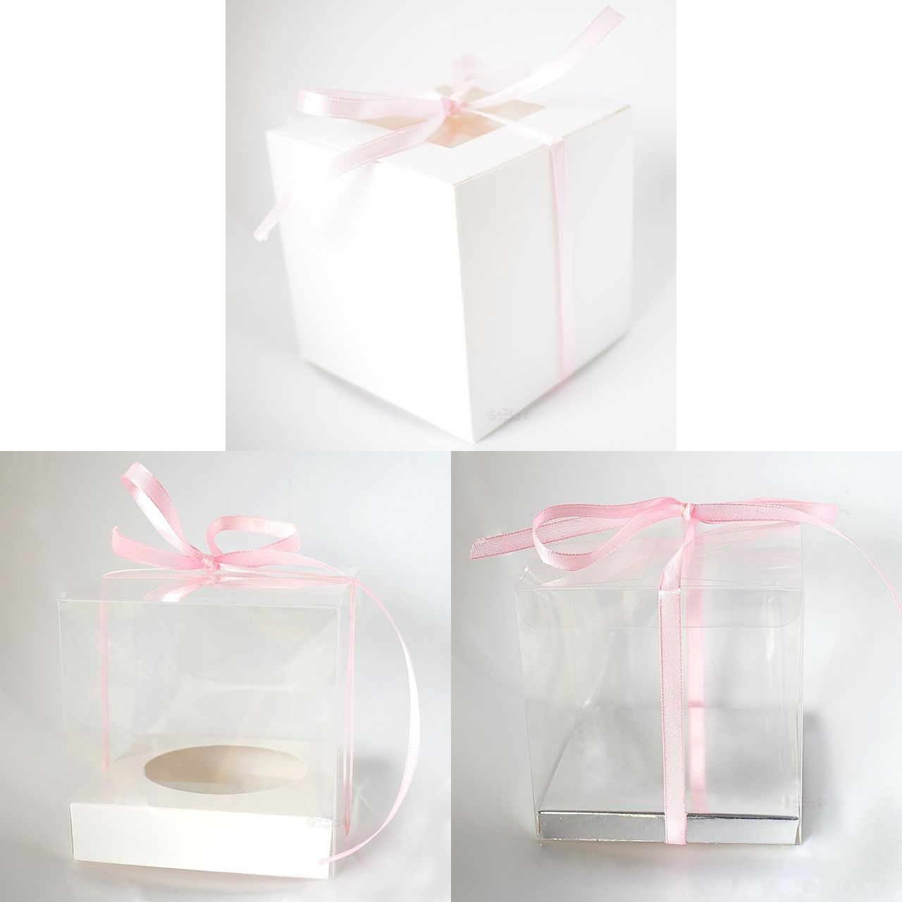 Gems Wedding Supplies - 50 x Cupcake Boxes, Clear or White, $55.00 ...