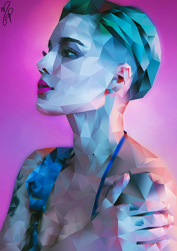 darrensblaines:    HALSEY - low poly portrait ... - Lumiere darling
