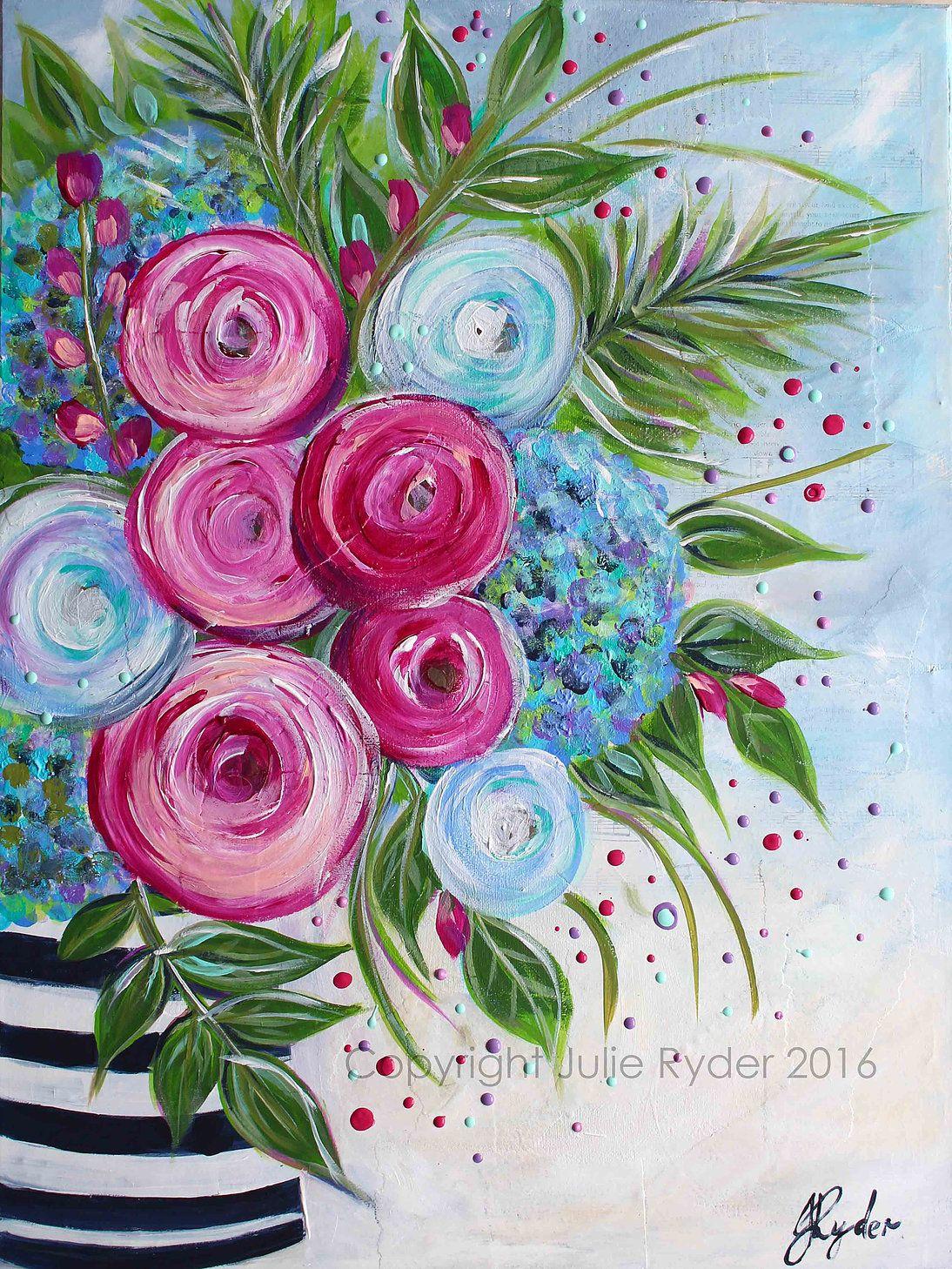 Julie Ryder Art Art For Sale Floral Painting Flower Art Floral Art