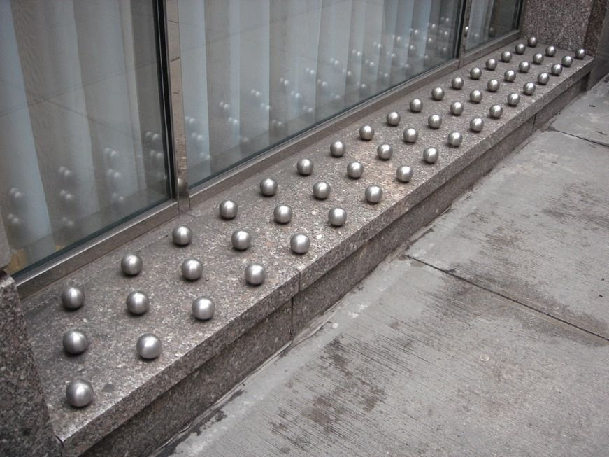 Are Anti Homeless Sidewalk Spikes Immoral Homeless Housing Homeless Architecture