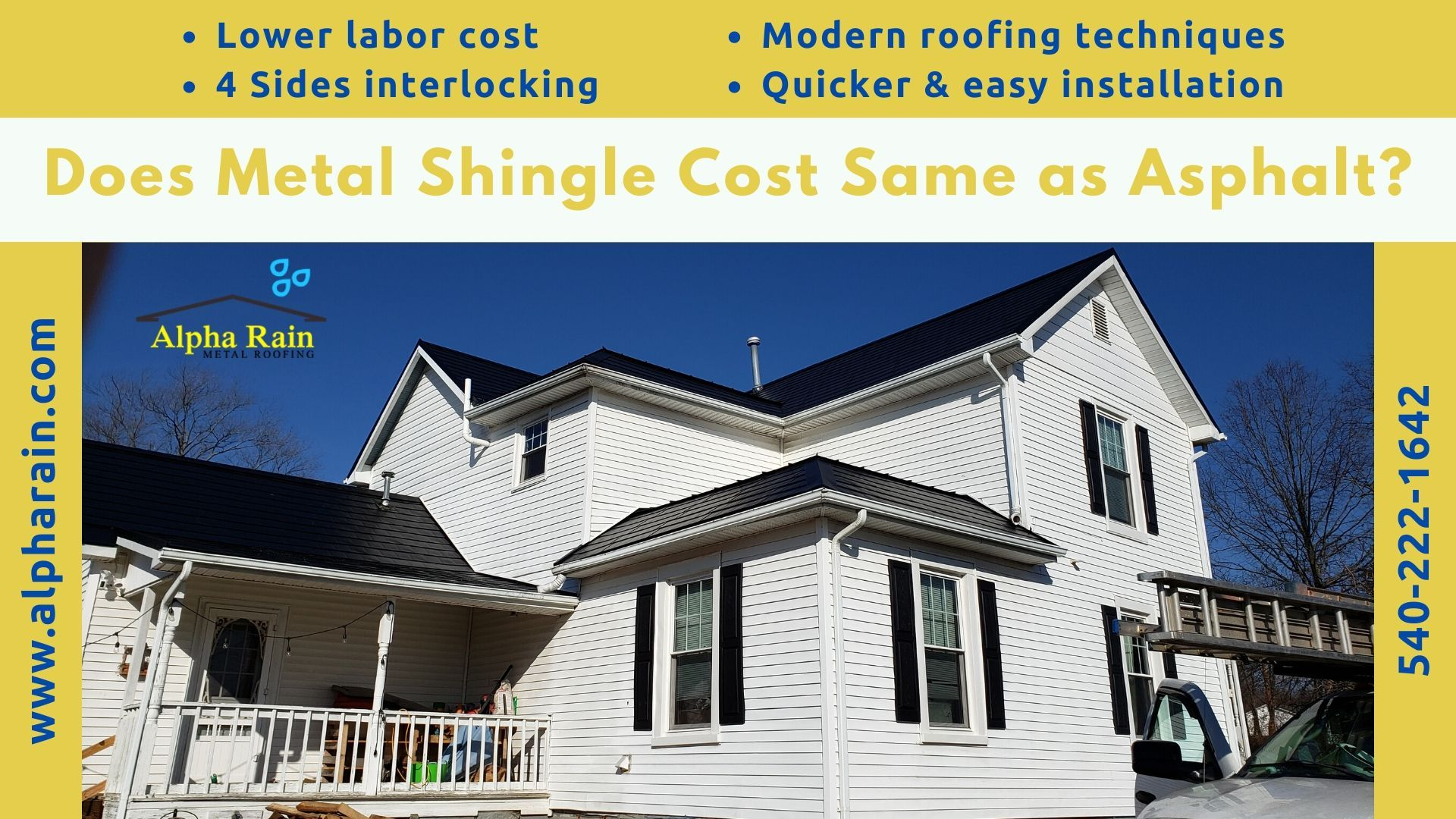 Can Metal Shingles Cost The Same As Asphalt In 2020 Metal Shingles Shingling Modern Roofing