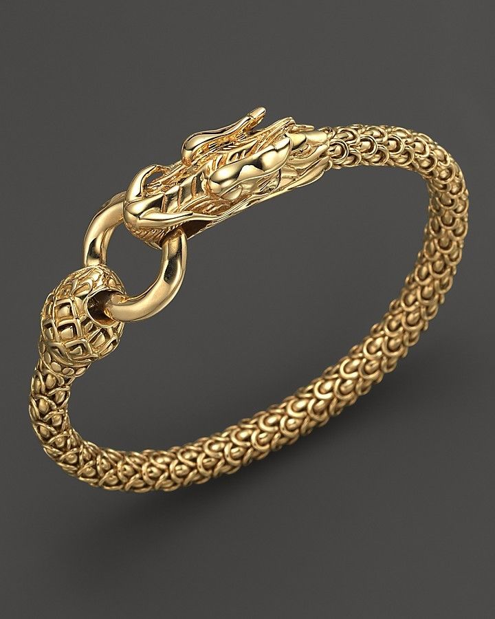 Expensive Gold Bracelet: John Hardy Naga 18K Yellow Gold Dragon Bracelet With Gold