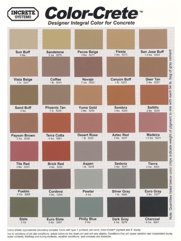 Increte Color Crete Integral Coloring