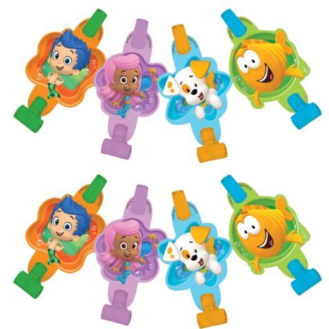 Bubble Guppies Blowouts 8ct - Party City | Bubble guppies party ...