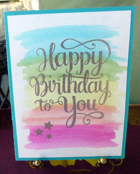 Happy Birthday Card Handmade Greeting Card by CardCreationsByPam