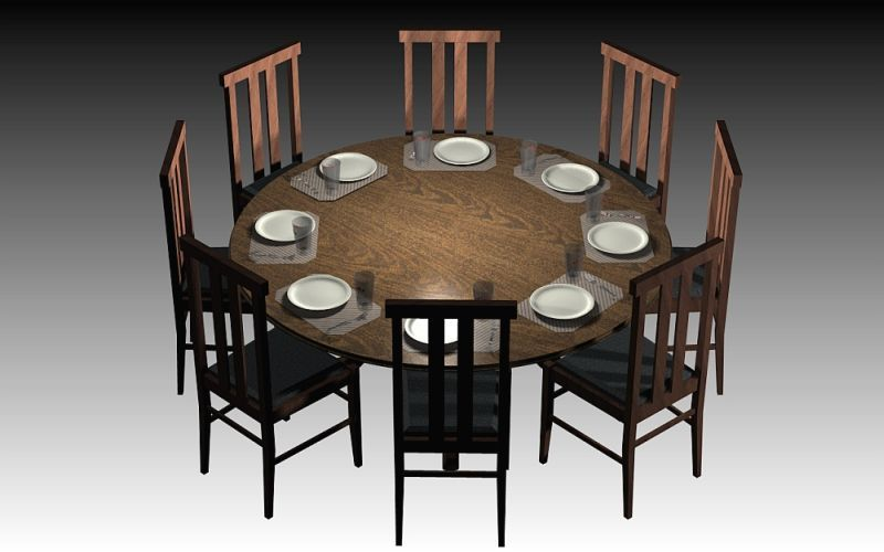 Round Dining Table Dynamics Higher Chairs Lower Setting With