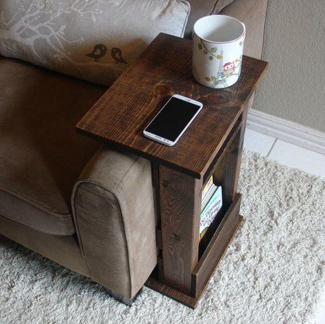 Sofa Stuhl Arm Rest Tischständer II mit Regal und von KeoDecor