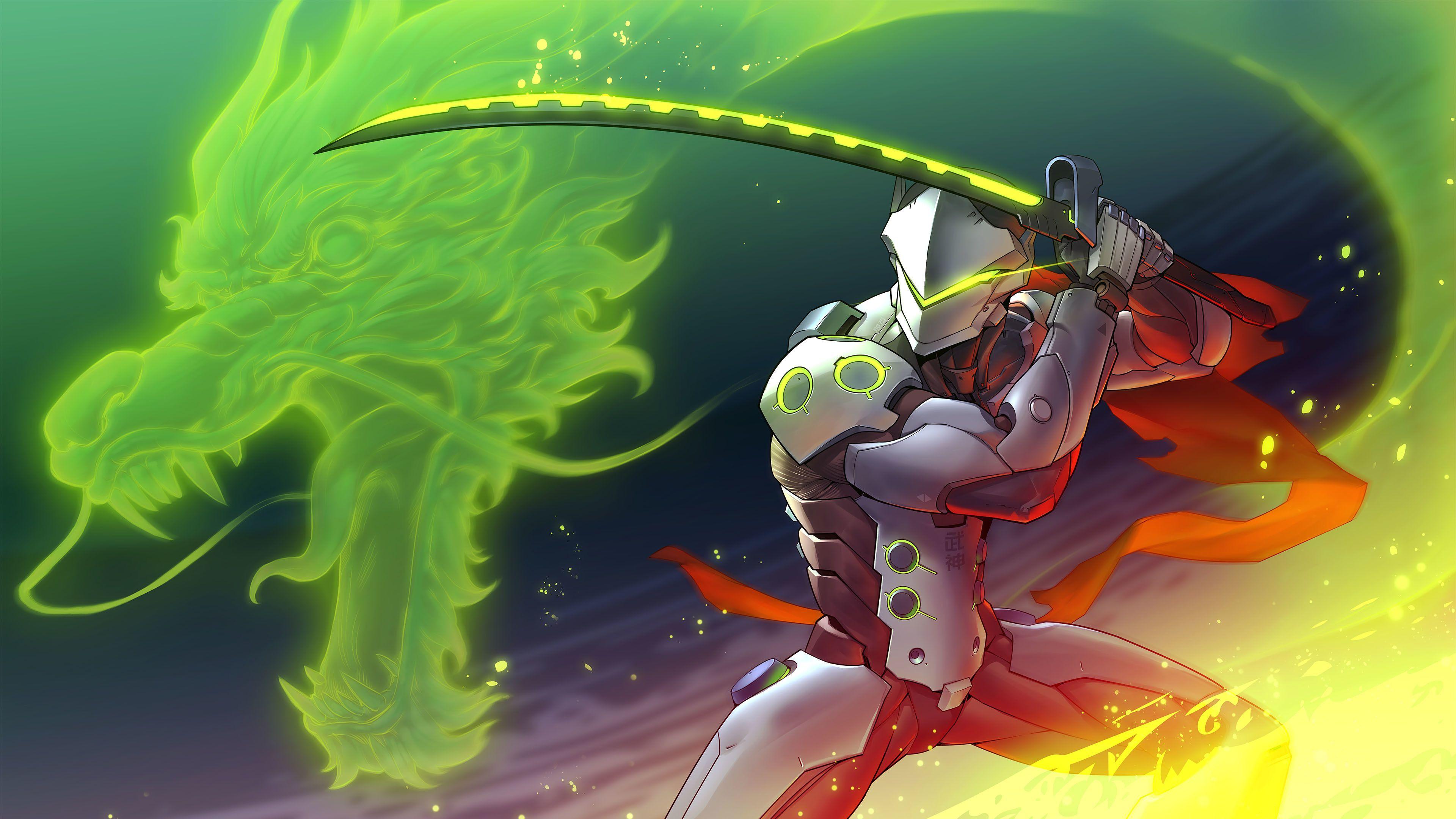 Genji Overwatch Art 4k HD Wallpapers Overwatch