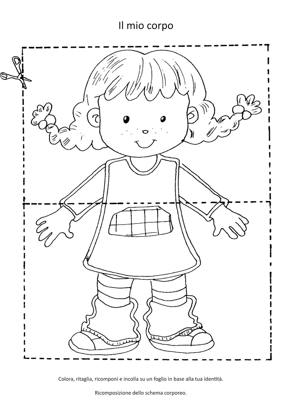 Schede didattiche corpo umano yz76 regardsdefemmes for Maestra gemma scuola dell infanzia