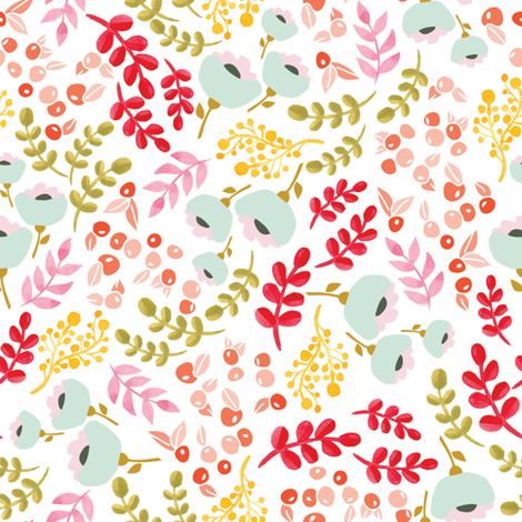 Colorful Fabrics Digitally Printed By Spoonflower Up North Scandinavian Floral Prints Scandinavian Fabric Spoonflower Fabric