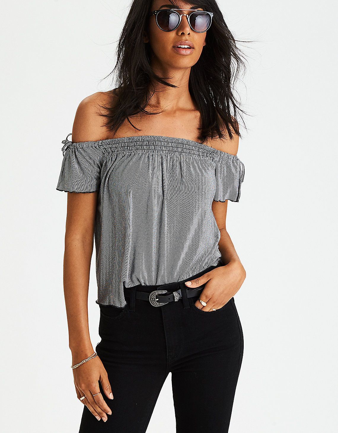 Product Image | Mock neck and t shirt, American eagle