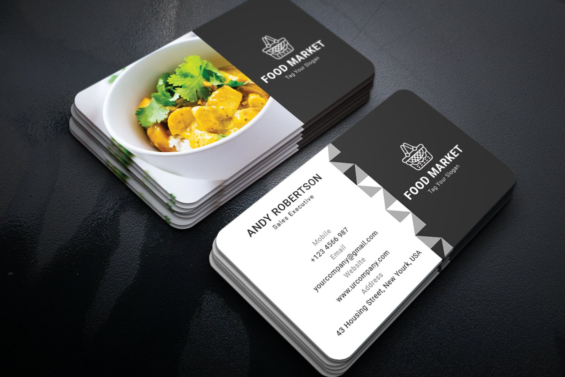 Catering Business Card Template Preview 03 Catering Business Cards Catering Business Food Business Card