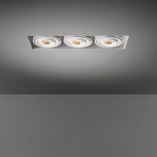 Mini multiple trimless for 3x LED GE