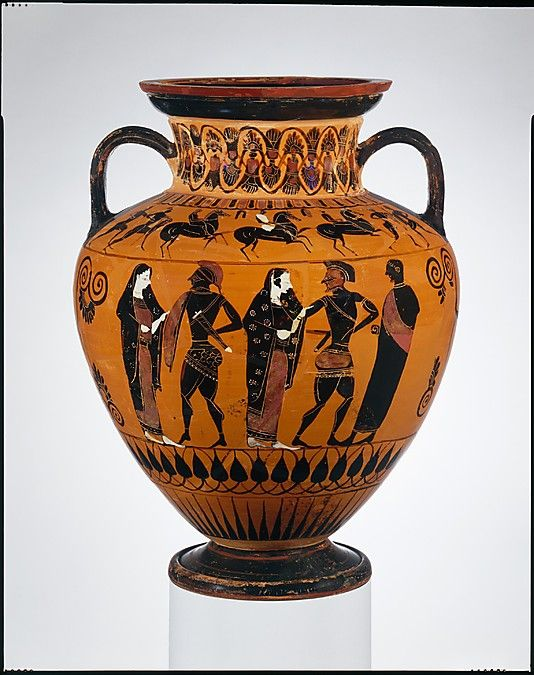 Terracotta Neck Amphora Jar Attributed To Group E Period