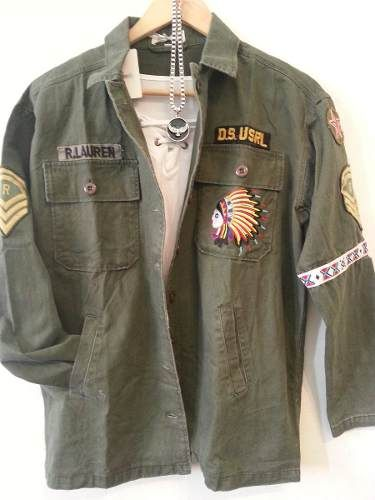 Camisa Chaqueta Militar Bordada Ralph Exclente Calidad Mujer  625e1dd8526e