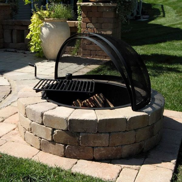 Rockwood Fire Ring with Cooking Grate. material to build fire pit and grill. - Rockwood Fire Ring With Cooking Grate. Material To Build Fire Pit