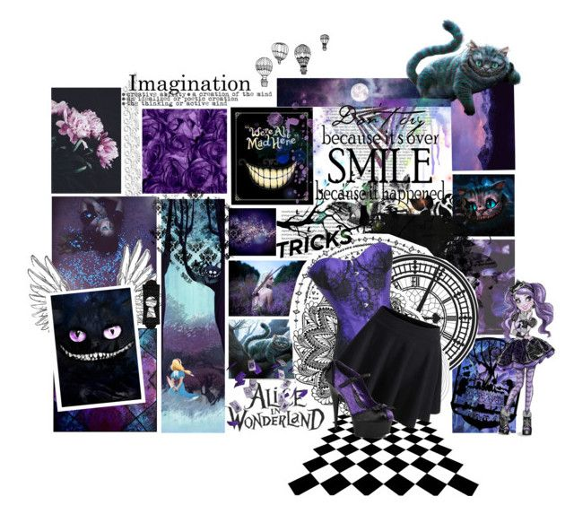 """""""Cheshire Cat"""" by xxfantasy-freakxx ❤ liked on Polyvore featuring Oris, Burton, INDIE HAIR, Pleaser, aliceinwonderland, madhatter and cheshirecat"""