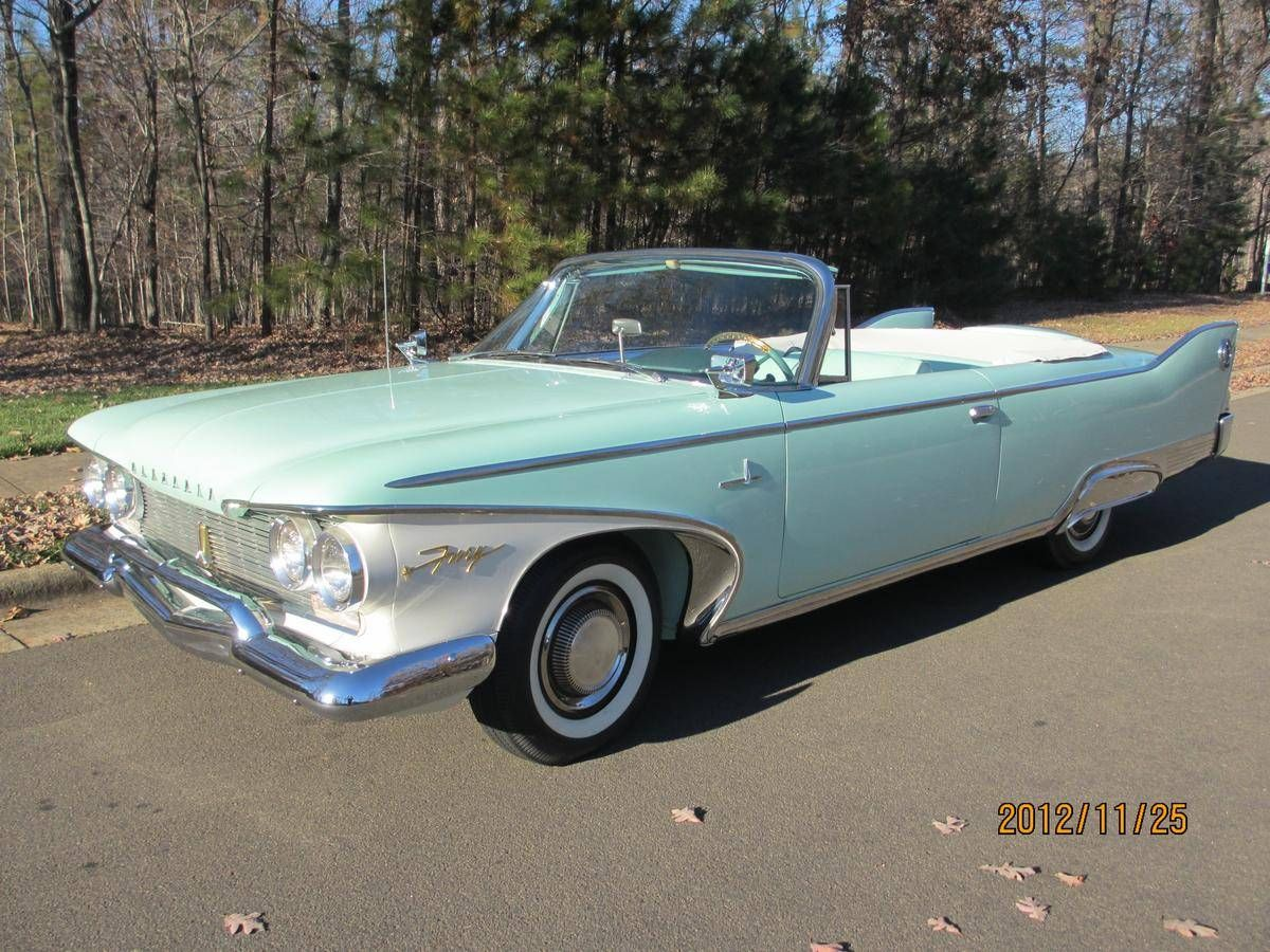 1960 Plymouth Fury Convertible - Golden Commando 395 | Plymouth ...