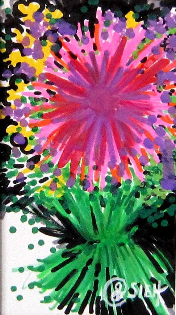 Flower Wall Art  Star Daisy by MoonieBlues on Etsy, $15.00