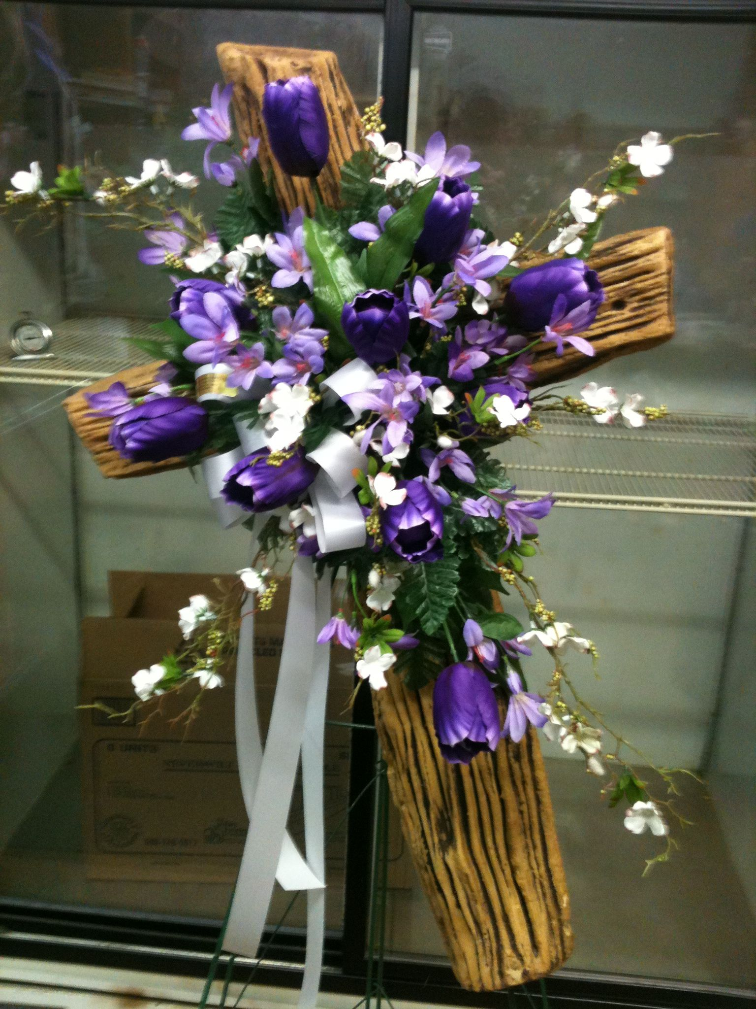 Easter Cross Funeral Spray Flowers For You Pinterest Funeral