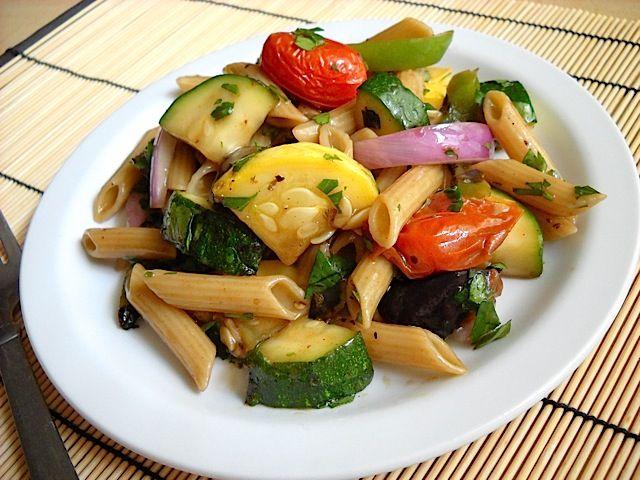 Grilled Vegetable Past Salad
