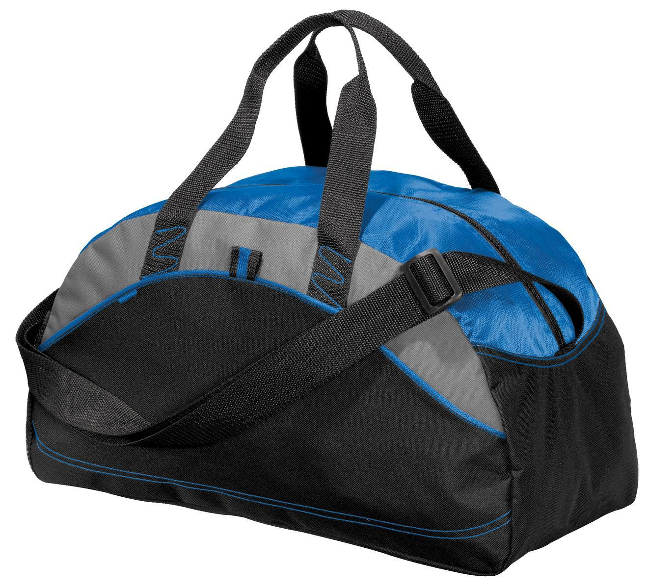 Port /& Company Zippered Polyester Padded Handle Sport Duffel Bag BG990S