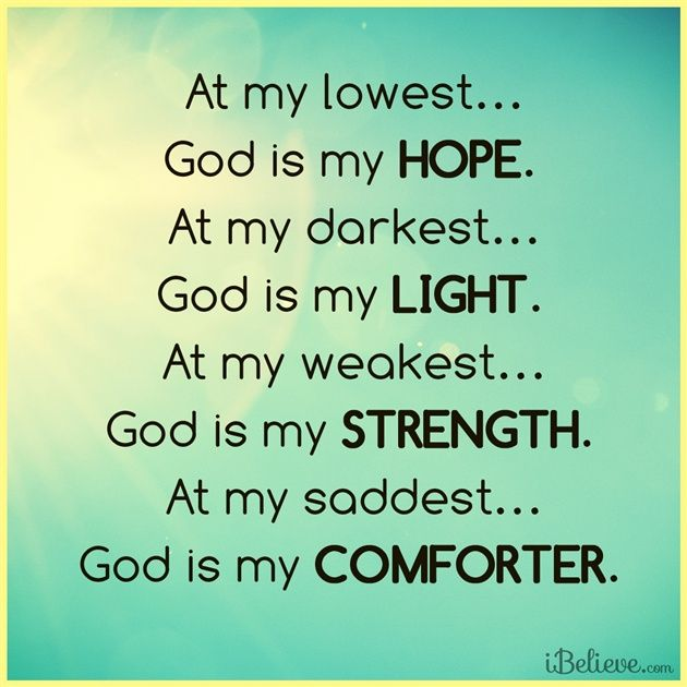 "At My Lowest, God is My Hope - Inspirations......I found that GOD is simply ""MY EVERYTHING""."