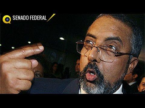 Senador Paim, se irrita com pronunciamento contra PT, Questiona orador e...