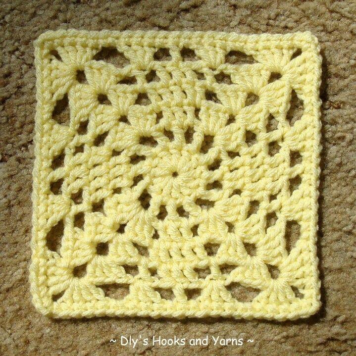 Crochet pattern - granny square | Cuadrados De Ganchillo | Pinterest ...