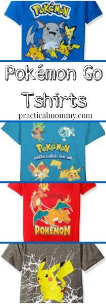 Pokémon Go T-shirts: Let Everyone Know You Play Pokémon Go when you wear one of these t-shirts.