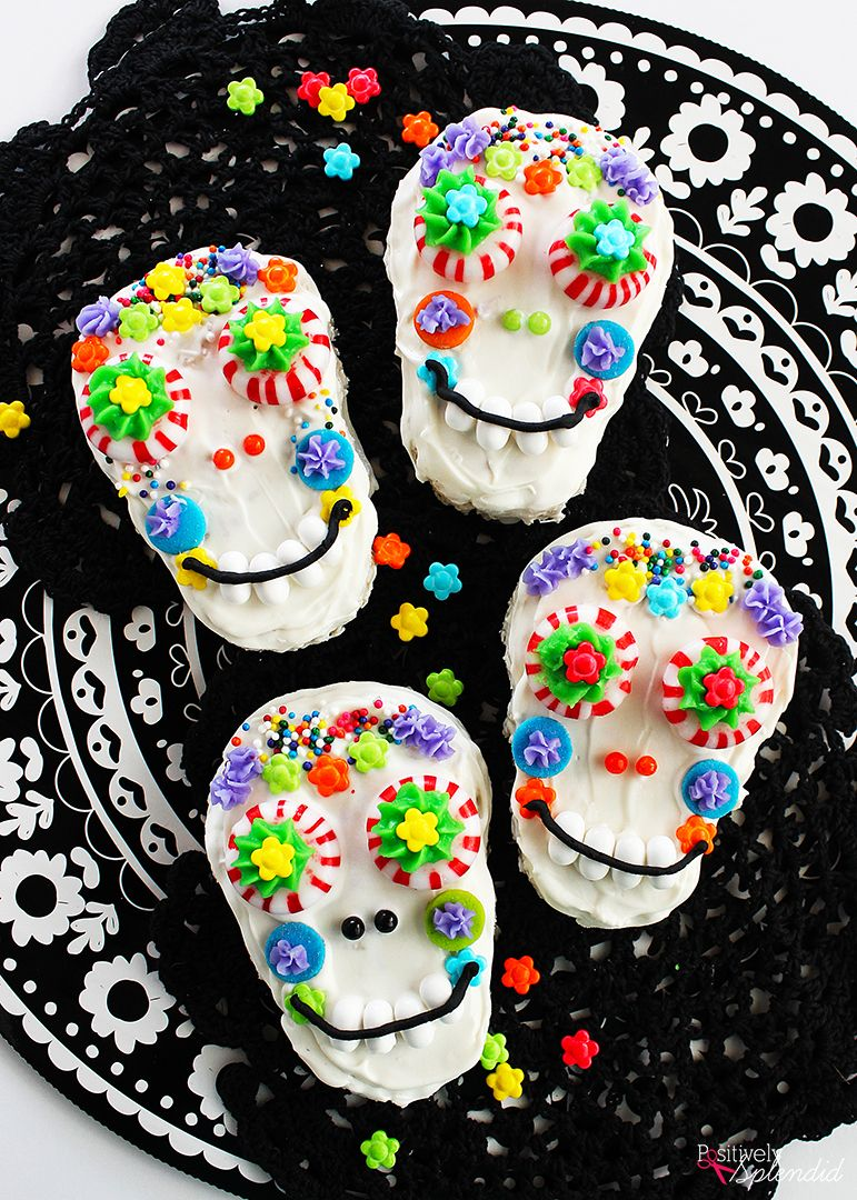 Day of the Dead Sugar Skull Rice Krispies® Treats | Recipe | Rice ...