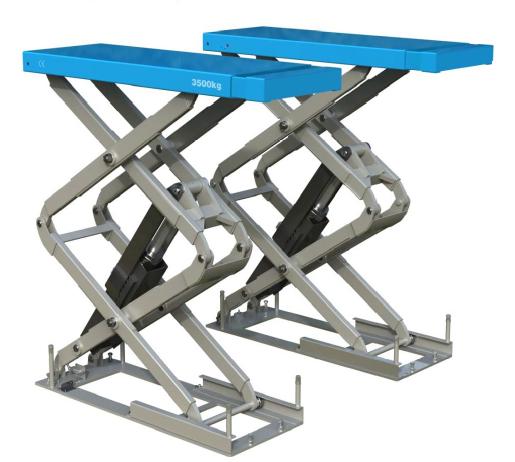 Elevador De Tijera Electrohidráulico Empotrable Xt 35a Rampa Para Coches Tijeras Plataformas Elevadoras