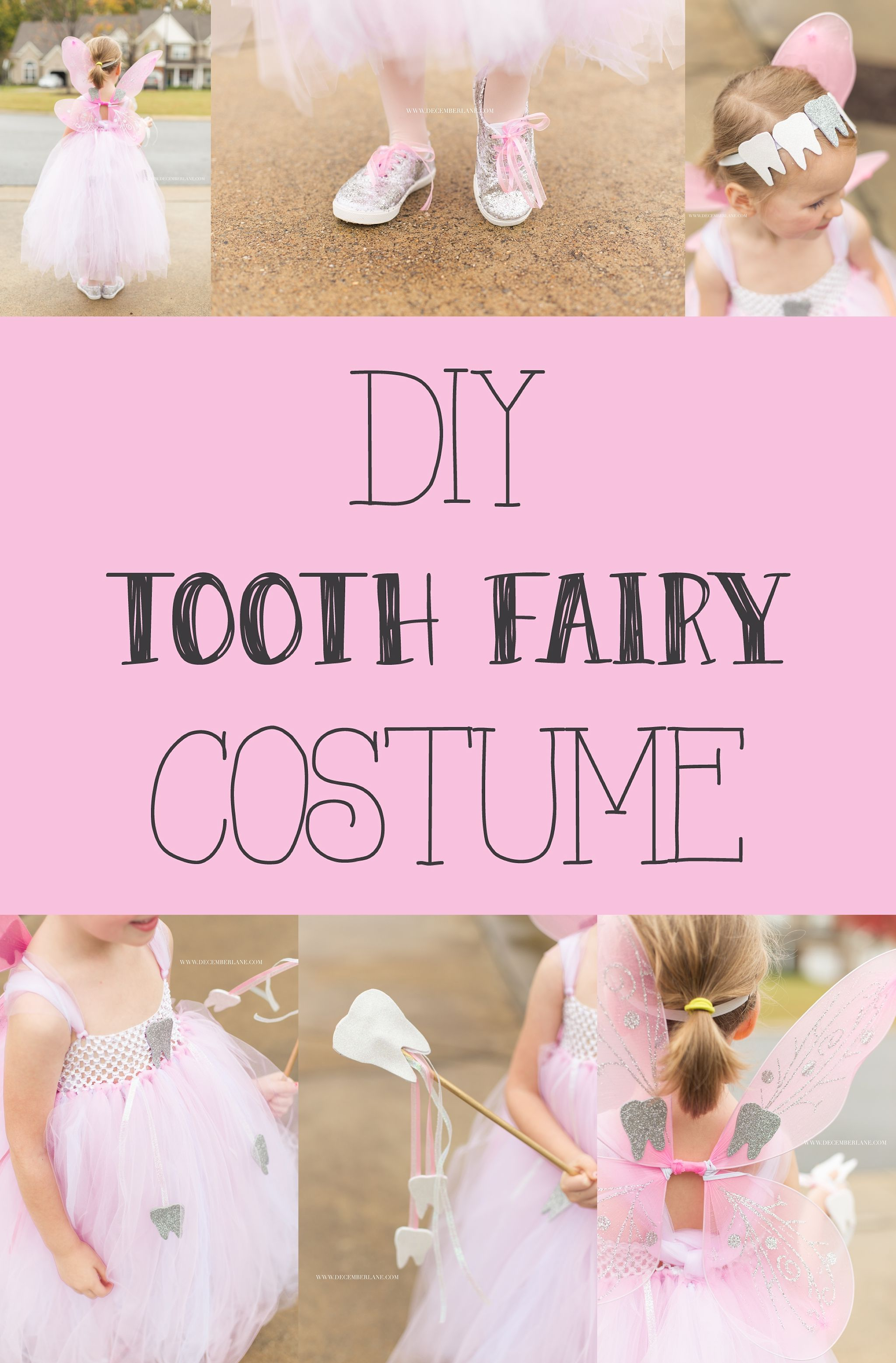 How to make a last minute DIY Tooth Fairy Costume. & DIY Tooth Fairy Costume