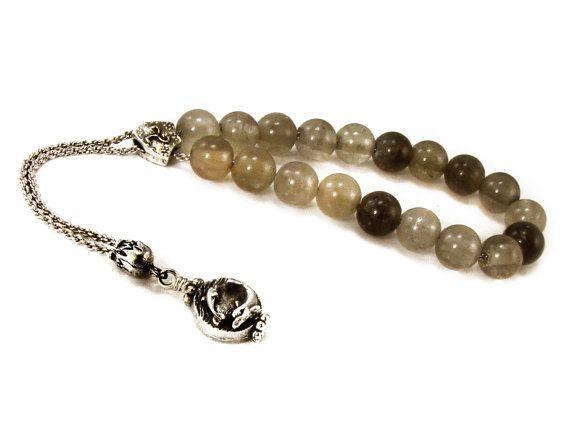 Komboloi Worry Beads Smoky Quartz Beads by sunnybeadsbythesea
