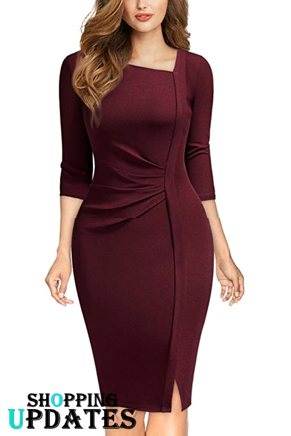 Business Wrap Bodycon Dress