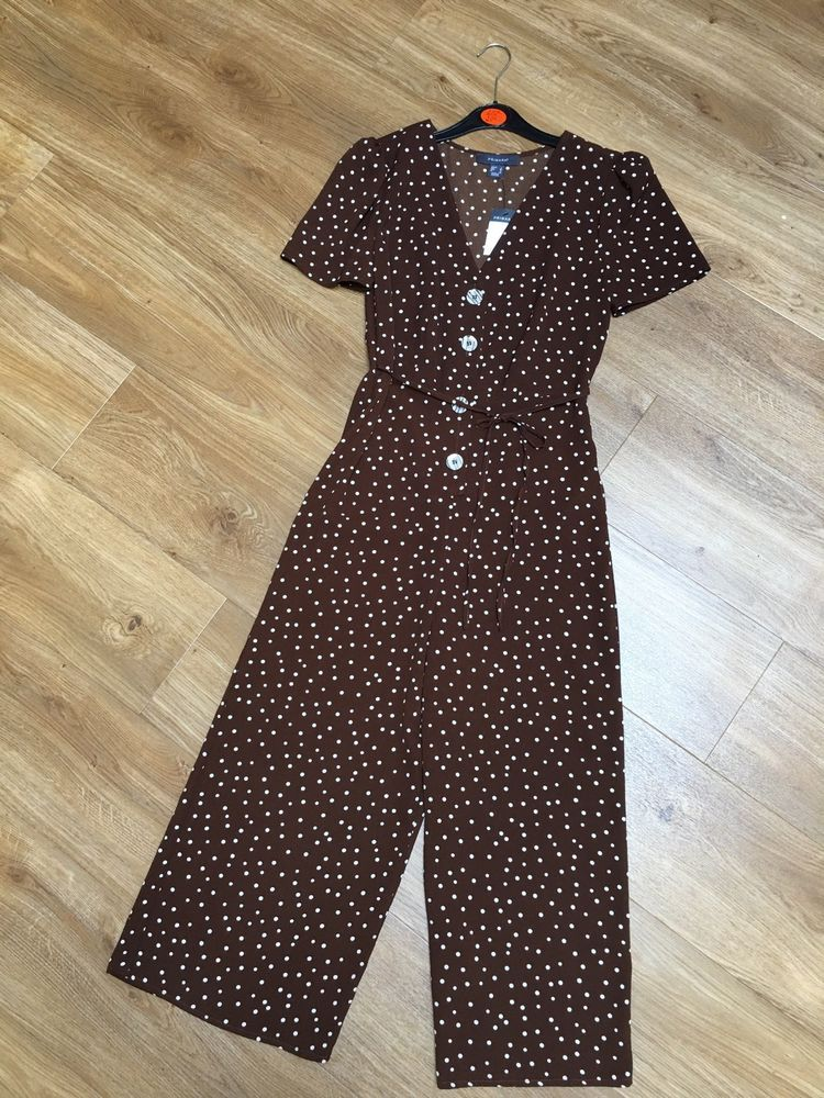 1da4ce67721 DESIGNER PRIMARK BROWN WHITE POLKA DOT SPOTTED GLAMOUR TEA JUMPSUIT 8 36 4  BNWT  fashion  clothing  shoes  accessories  womensclothing   jumpsuitsrompers  ad ...