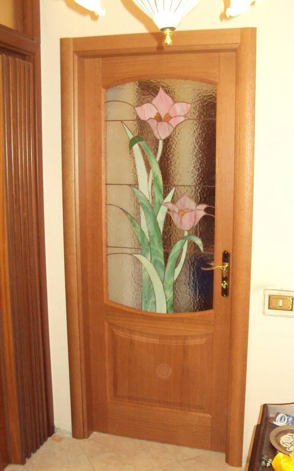 Porta da interno della aipsololegno con vetro cattedrale - Porte da interno con vetro ...