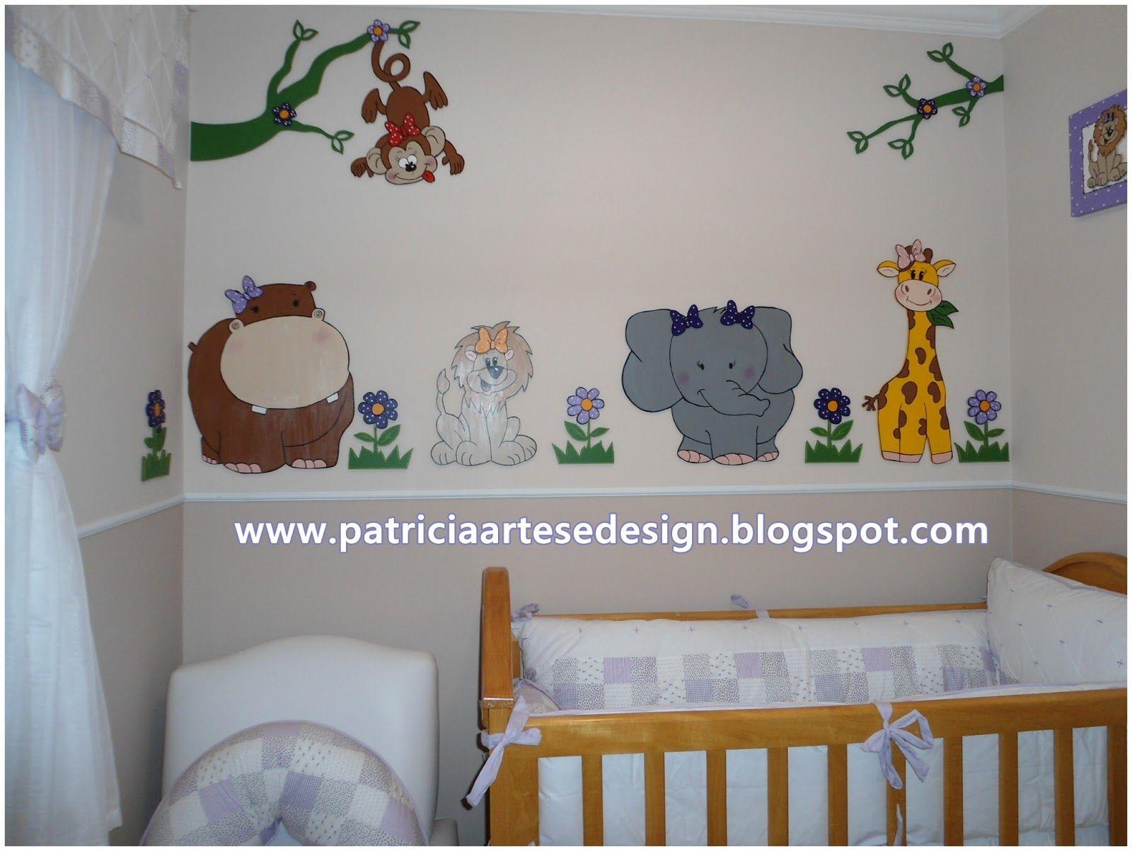 Patricia Artes E Design Painel Safari Para Meninas Decora O De  ~ Painel De Fotos Para Quarto Coração