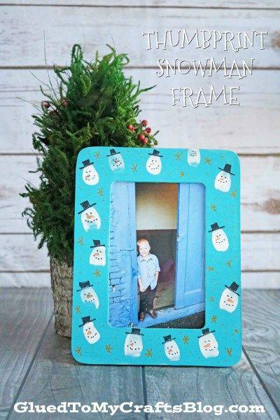 Thumbprint Snowman Frame - Kid Craft Glued To My Crafts