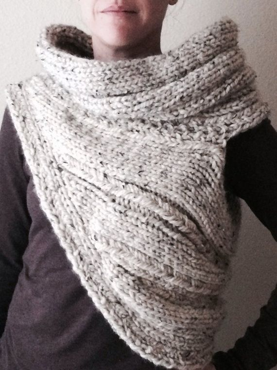 Knitting PATTERN PDF for DIY Panem Cowl - Two Looks - chunky cowl ...